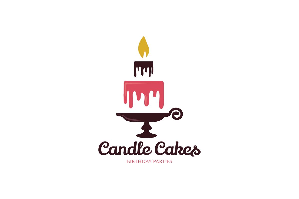 Candle Cakes Logo Design.