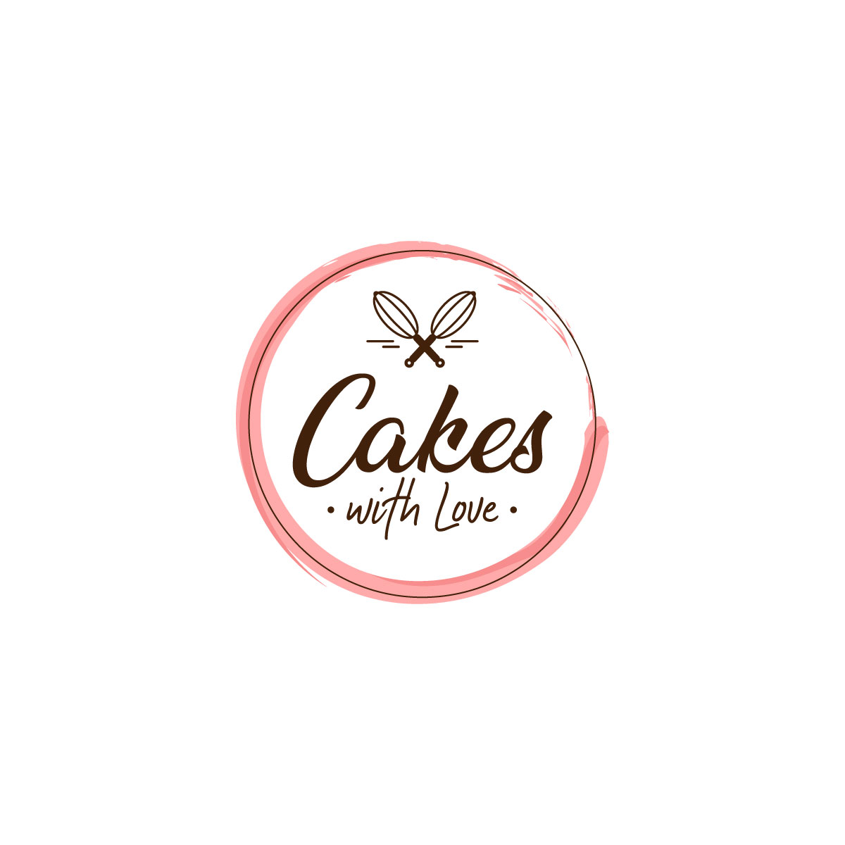 Modern, Elegant Logo Design for Cakes with Love by Arrow.