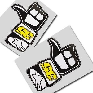 Cal Crutchlow `LIKE` unique stickers motorcycle decals custom.