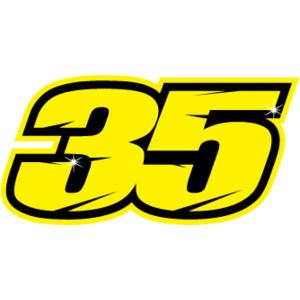 Cal Crutchlow #35 Decal/Sticker Logo.