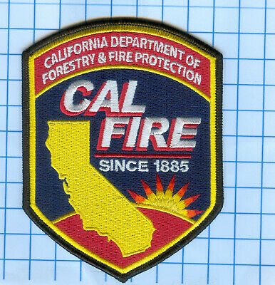 NEW CALIFORNIA FIRE Department Cal Fire Fighter Logo.