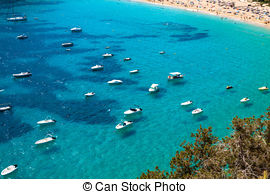 Stock Photo of Ibiza caleta de Sant Vicent cala San vicente san.