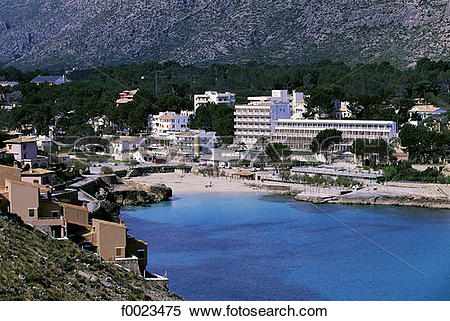 Stock Image of Spain, Balearic Islands, Majorca, Cala San Vicente.