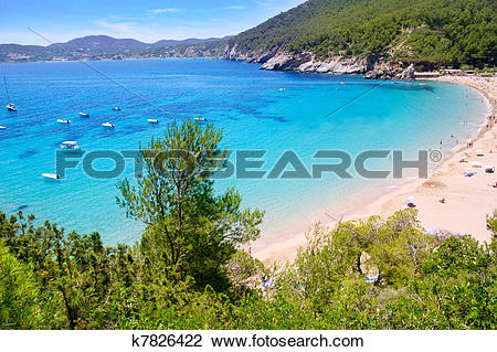 Stock Photo of Ibiza Cala de Sant Vicent caleta de san vicente.
