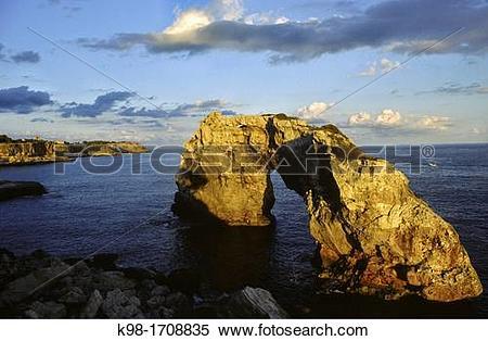 Stock Image of Es Pont?s, Cala Santanyi, Santanyi Majorca.