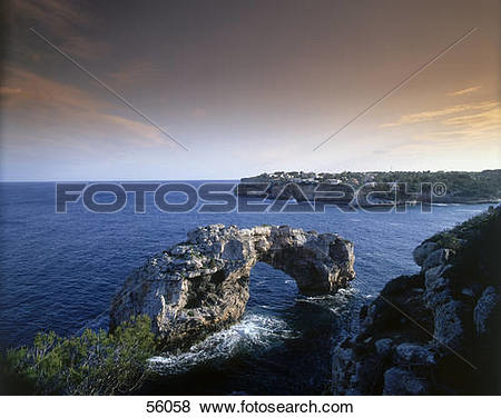 Pictures of Rock formations on the coast, Cala Santanyi, Mallorca.