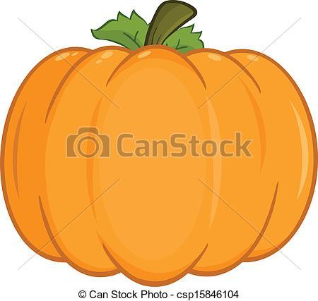 Vector Clipart of Pumpkin Cartoon Illustration.