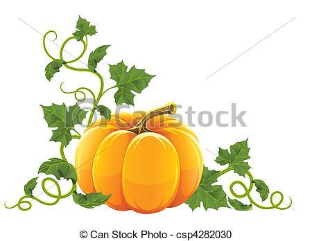 Vector Clip Art de naranja, vegetal, maduro, calabaza.