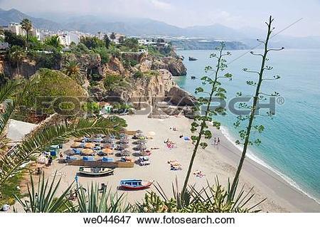 Picture of Calahonda beach. Nerja, Costa del Sol, Malaga province.