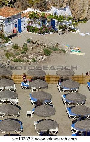 Stock Photo of Playa de Calahonda Calahonda Beach, view from.