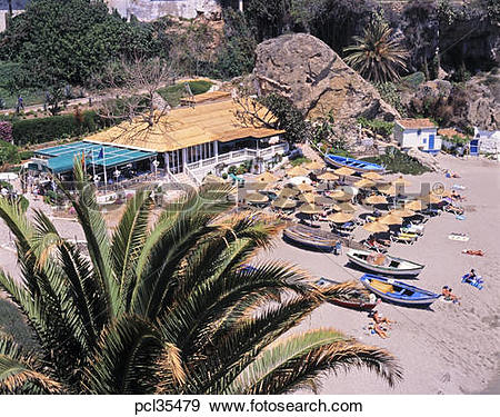 Stock Photograph of Calahonda Beach, Nerja, Costa Del Sol, Spain.