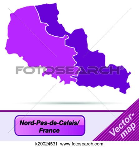 Clipart of Map of North.