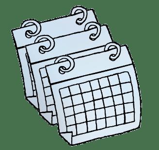 Calendars Clipart transparent PNG.