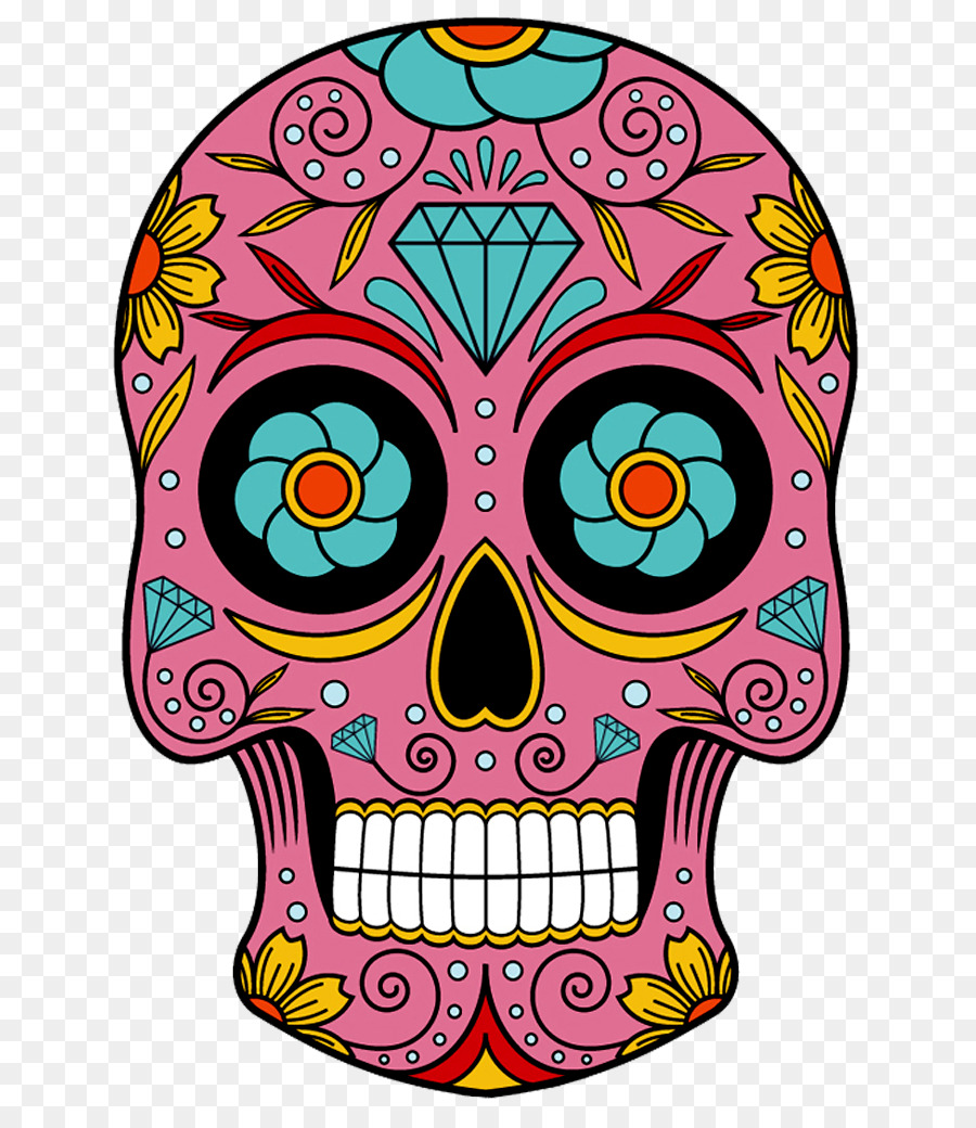 Day Of The Dead Skulltransparent png image & clipart free download.