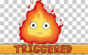 45 Calcifer PNG cliparts for free download.