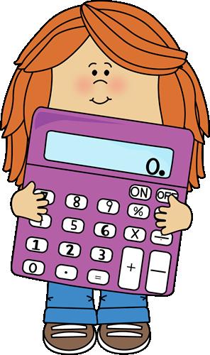Cartoon Calculator Clipart.