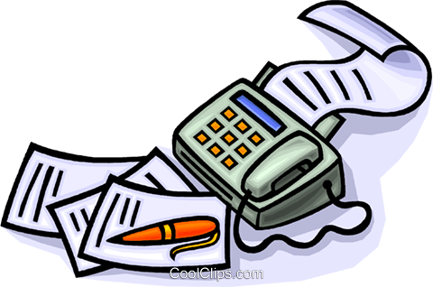 Fax machine clipart free.