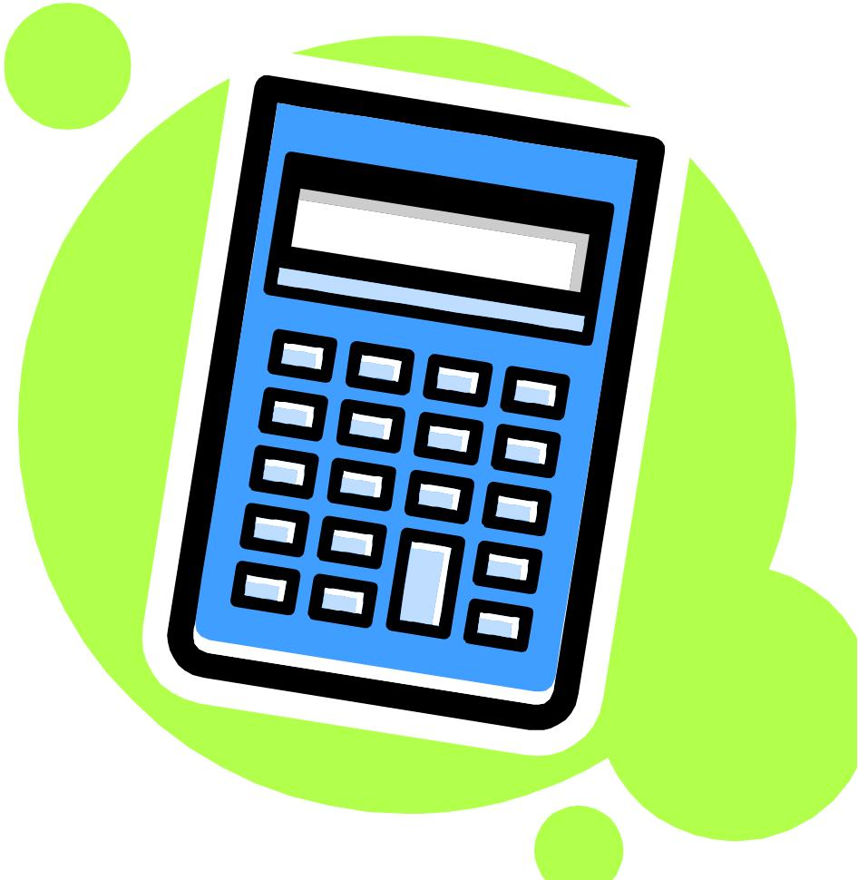 Basic Calculator Clipart.