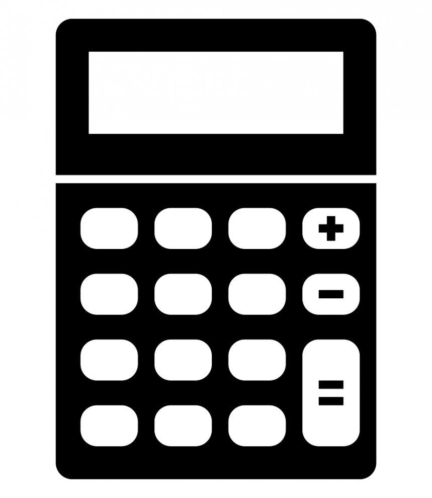 Calculator Clip Art Format Clipart Black And White.