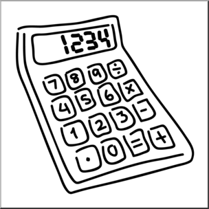734 Calculator free clipart.