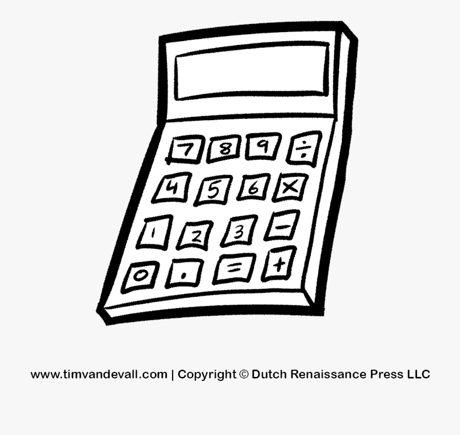Calculator Clipart Free Cliparts Images On Transparent.