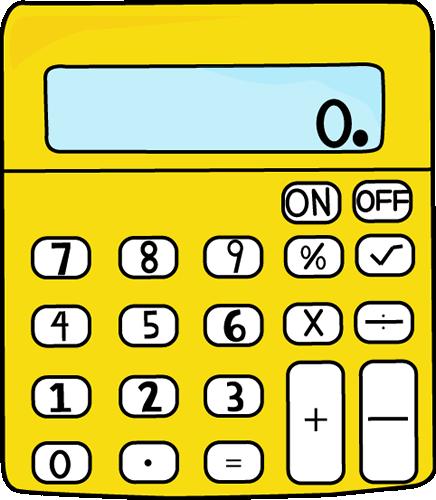 734 Calculator free clipart.