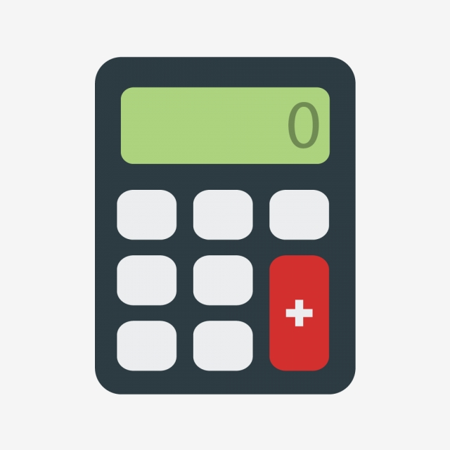 Vector Calculator Icon, Calculator Icon, Calculate Icon, Office.
