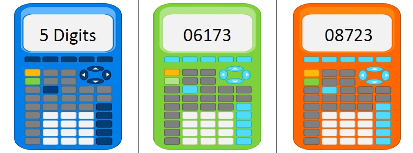 Calculator With The Number 5 Clipart.