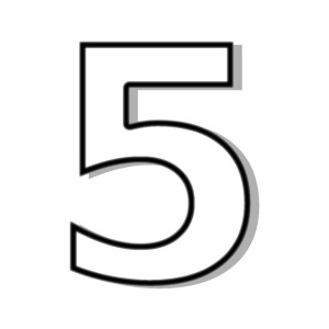 The Number 5 Clipart.