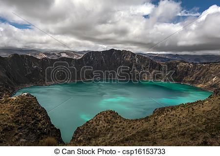 Stock Photos of Quilotoa caldera.