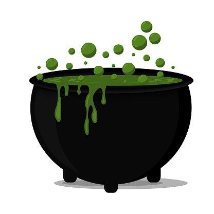 Halloween Cauldron Clipart Image.