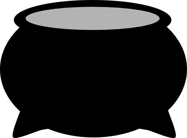 Pot chili flame caldron clipart.
