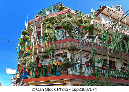 Picture of Calella , House with cactus, Costa.