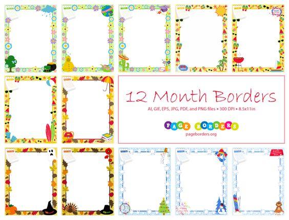 Clipart calendar border, Clipart calendar border Transparent.