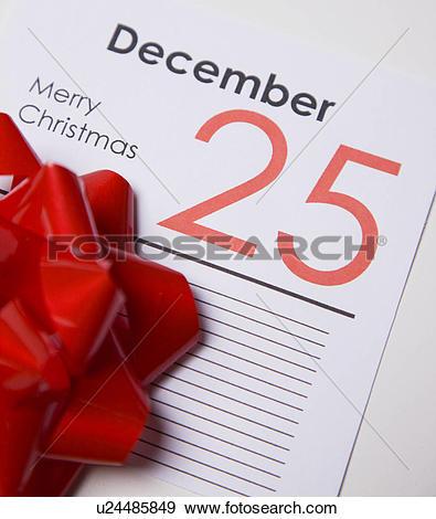 Stock Photograph of 25th of December calendar card u24485849.