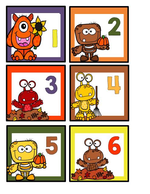 Fall Calendar Card {Freebie}.