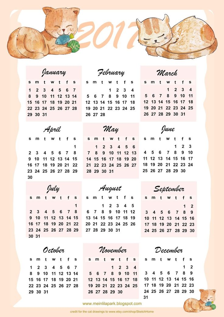 1000+ images about FREE printable 2017 + 2016 calendars on.