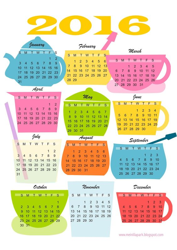 Calendar, Free printable and Kitchens on Pinterest.