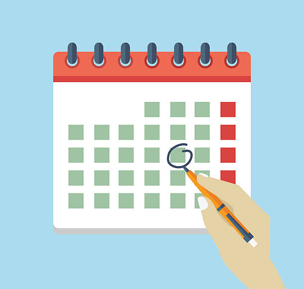 Best Mark Your Calendar Illustrations, Royalty.