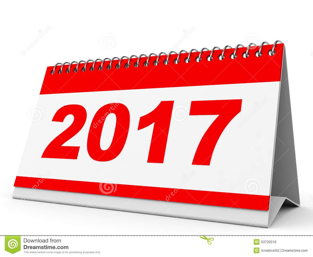 Calendar 2017 Clipart.