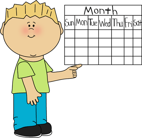 Calendar Cartoon clipart.