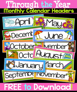 Calendar Clipart For Teachers.