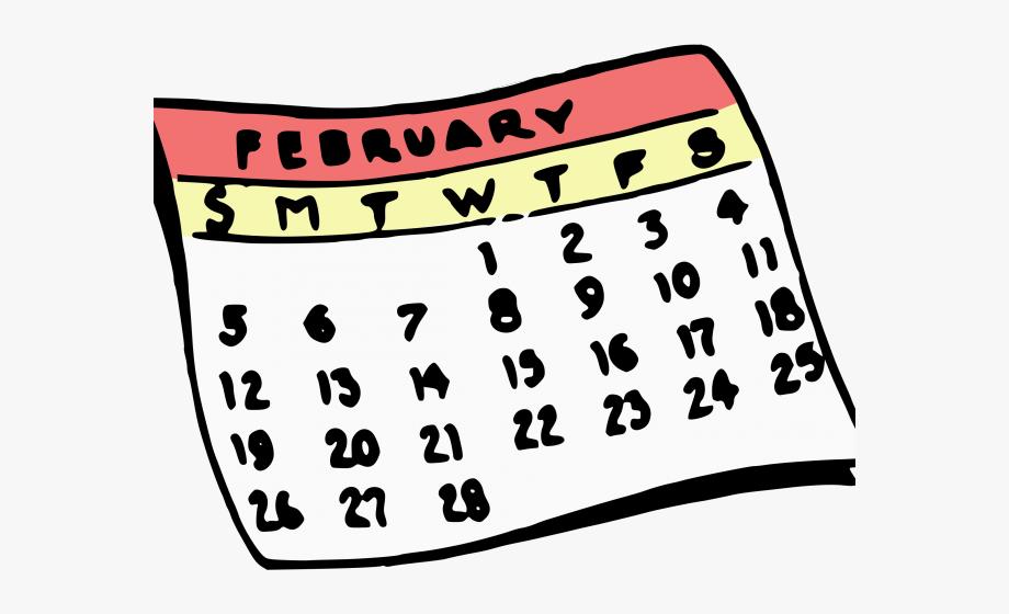 February Calendar Clipart.