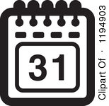 Black And White Calendar Clipart.