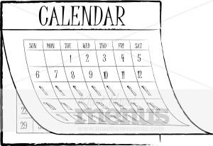 June Calendar Clipart Black And White image tips.