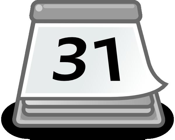 Calendar Clipart White.
