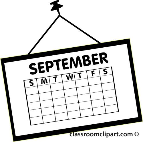 Calendar Clip Art Black And White.