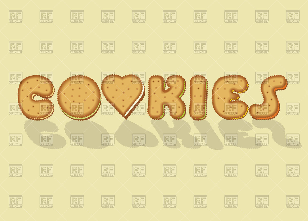 Lettering made of biscuits, inscription