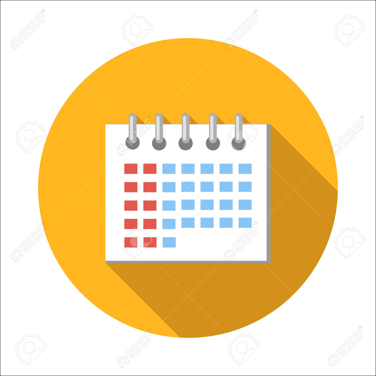 Calendar Flat Icon Isolated On White Background Royalty Free.