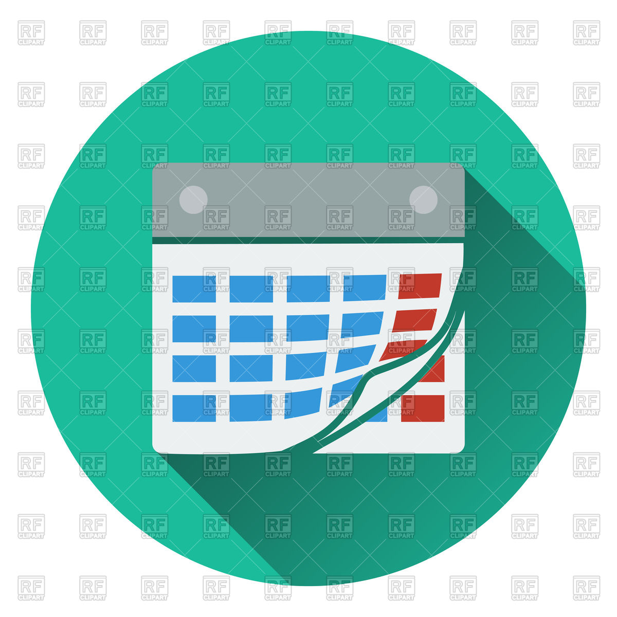 Calendar icon. Flat design. Vector Image #114939.